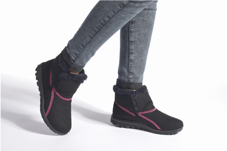 Bottines et boots Skechers Go Walk Artic Noir vue bas / vue portée sac