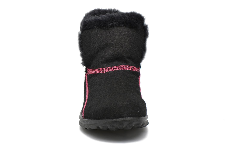 Bottines et boots Skechers Go Walk Artic Noir vue portées chaussures