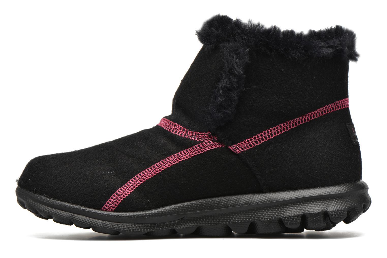 Bottines et boots Skechers Go Walk Artic Noir vue face
