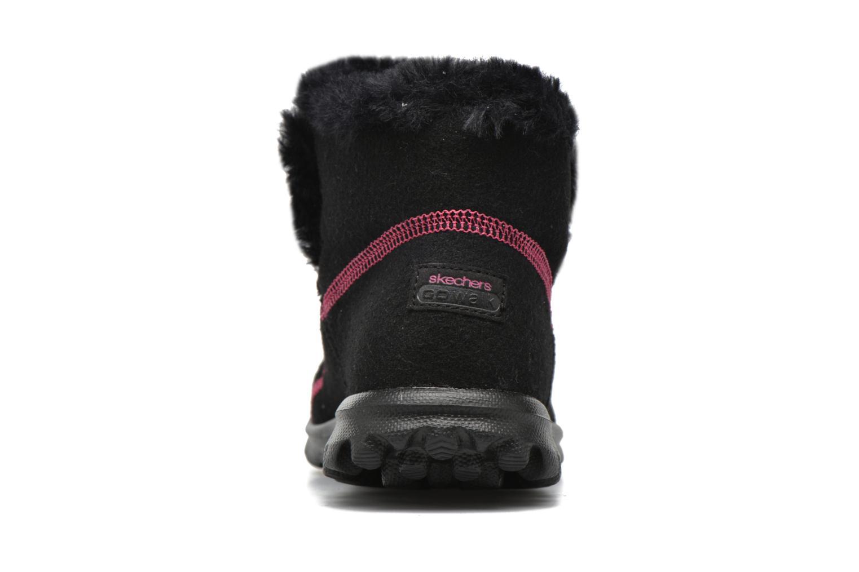 Bottines et boots Skechers Go Walk Artic Noir vue droite