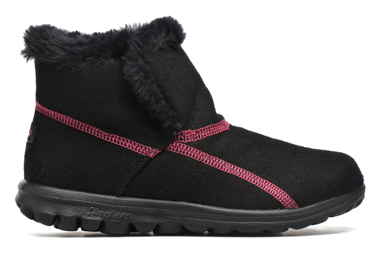 Bottines et boots Skechers Go Walk Artic Noir vue derrière
