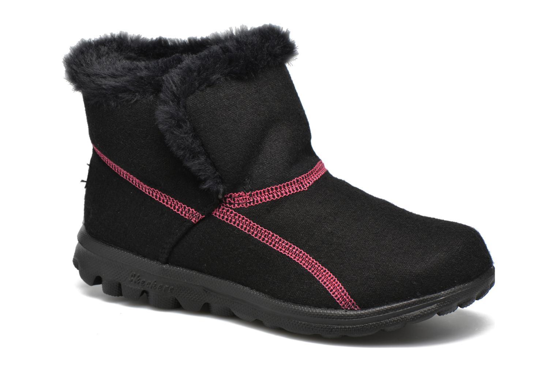 Bottines et boots Skechers Go Walk Artic Noir vue détail/paire