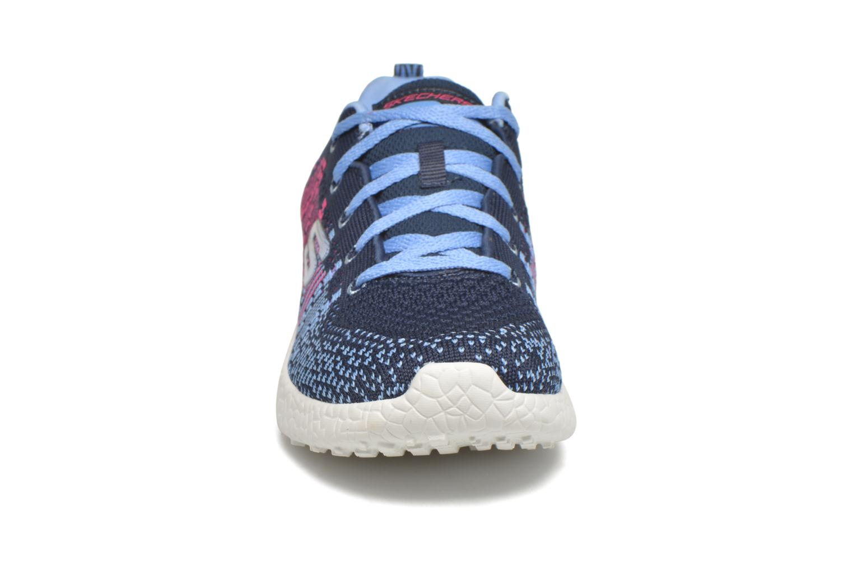 Baskets Skechers Burst Ellipse Bleu vue portées chaussures
