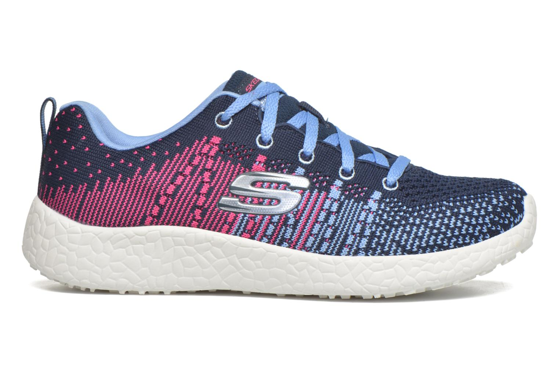 Baskets Skechers Burst Ellipse Bleu vue derrière