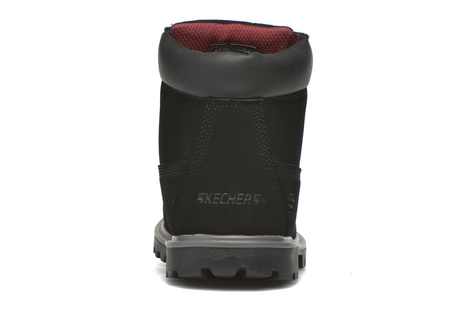 Ankle boots Skechers Mecca Mitigate Black view from the right