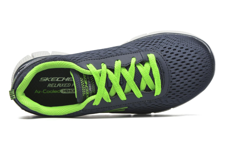 Sneaker Skechers Equalizer 2.0 Settle the Score blau ansicht von links