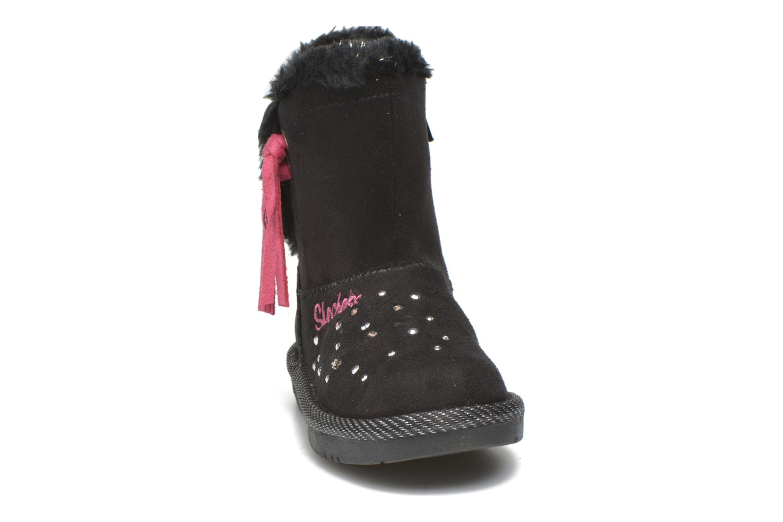 Stiefel Skechers Glamslam schwarz schuhe getragen