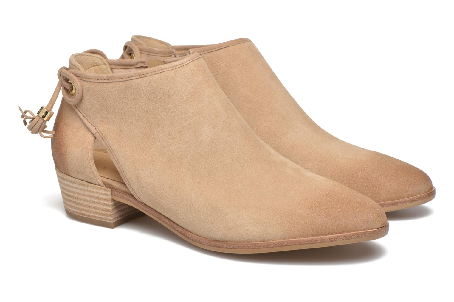 Ankle boots Michael Michael Kors Jennings Flat Bootie Beige 3/4 view