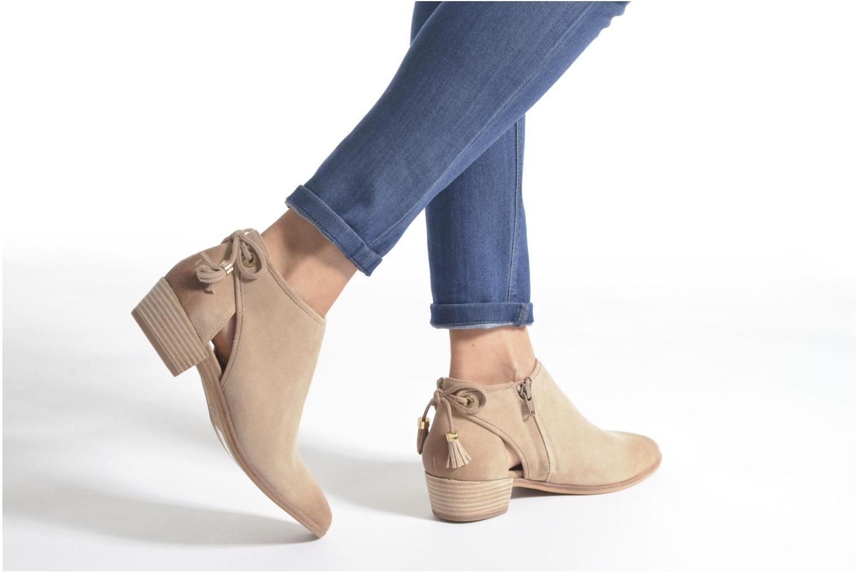 Bottines et boots Michael Michael Kors Jennings Flat Bootie Beige vue bas / vue portée sac