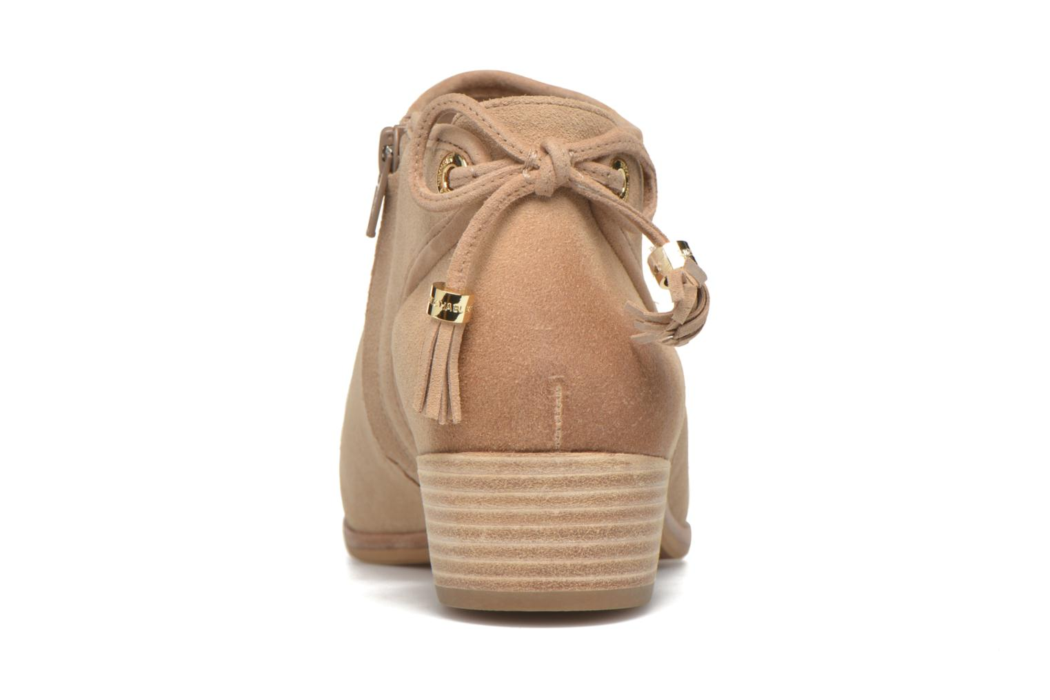 Ankle boots Michael Michael Kors Jennings Flat Bootie Beige view from the right