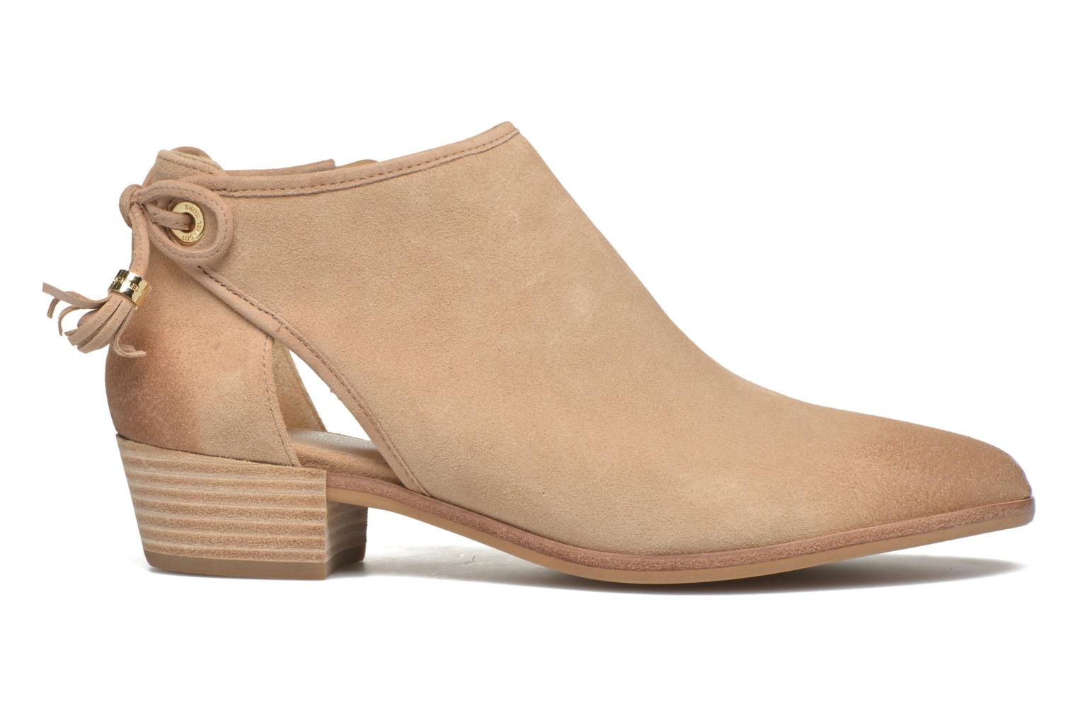 Ankle boots Michael Michael Kors Jennings Flat Bootie Beige back view