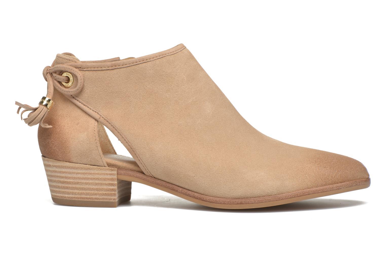 Ankle boots Michael Michael Kors Jennings Flat Bootie Beige back view