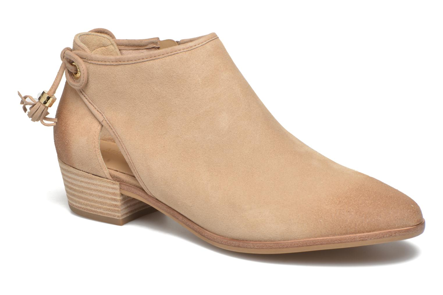 Ankle boots Michael Michael Kors Jennings Flat Bootie Beige detailed view/ Pair view