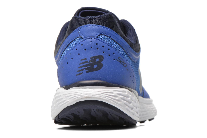 Baskets New Balance M520 D V2 Bleu vue droite