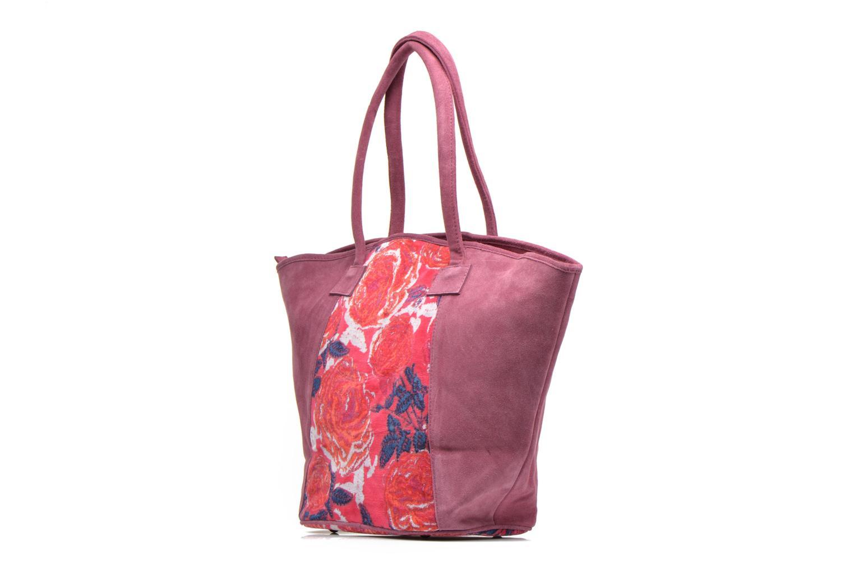 Handtaschen La Fiancée Du Mékong Calista lila ansicht von rechts