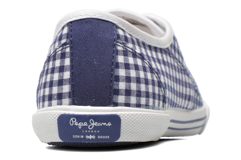 Sneaker Pepe jeans Aberlady capri blau ansicht von rechts