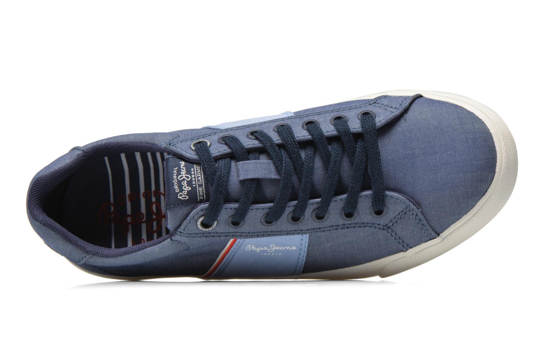 Baskets Pepe jeans Coast basic Bleu vue gauche