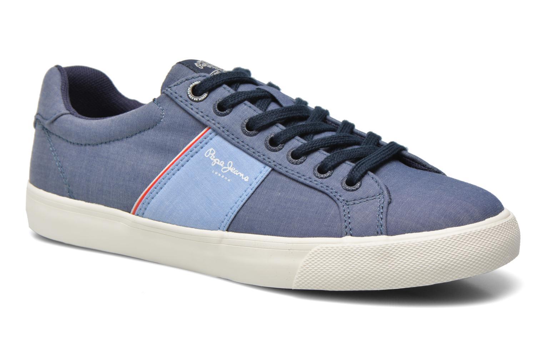 Baskets Pepe jeans Coast basic Bleu vue détail/paire
