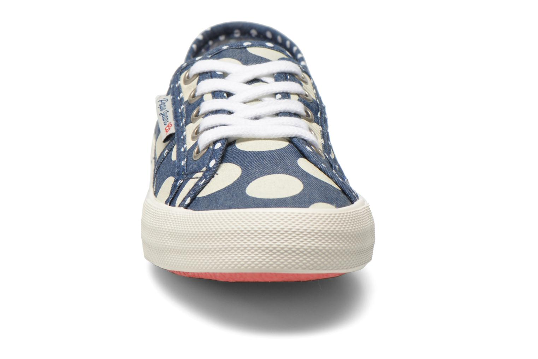 Baskets Pepe jeans Baker lunar Bleu vue portées chaussures