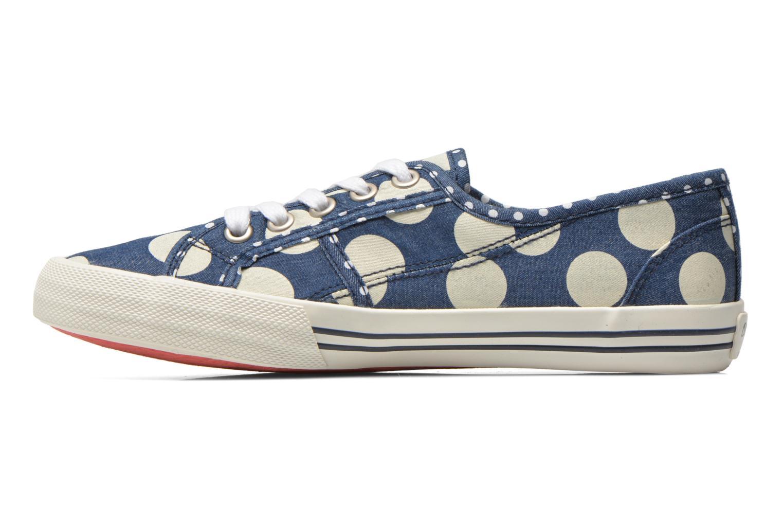 Baskets Pepe jeans Baker lunar Bleu vue face