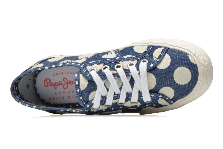 Baskets Pepe jeans Baker lunar Bleu vue gauche