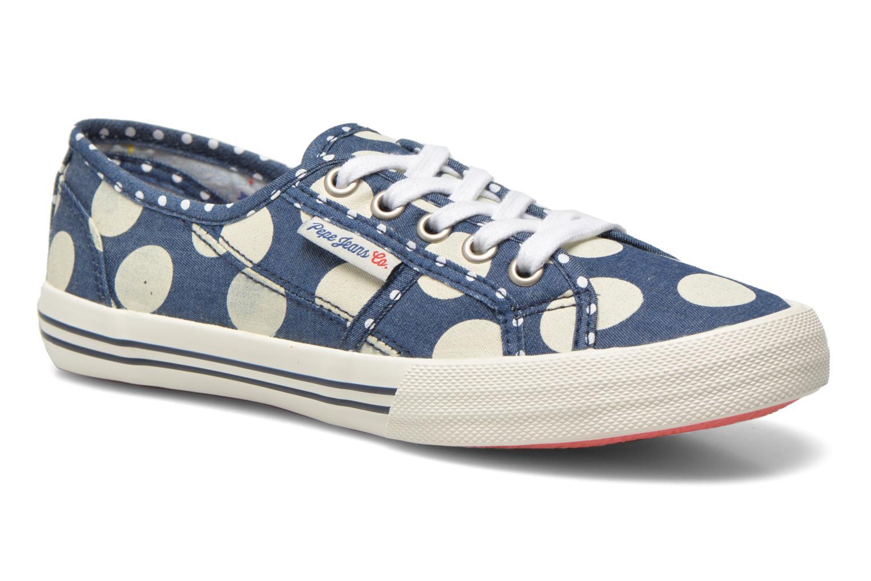 Baskets Pepe jeans Baker lunar Bleu vue détail/paire