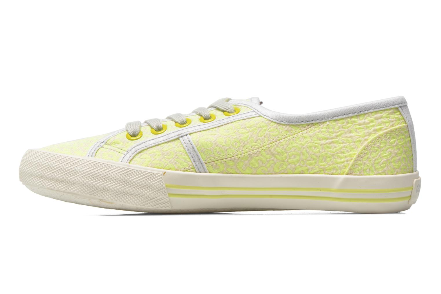 Trainers Pepe jeans Baker fluor Yellow front view