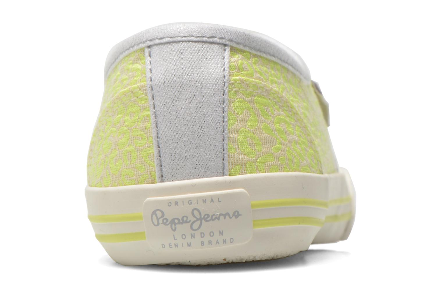 Trainers Pepe jeans Baker fluor Yellow view from the right