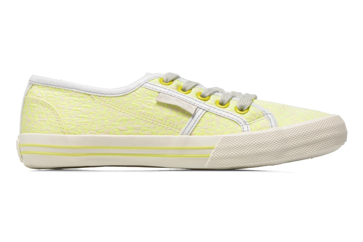 Trainers Pepe jeans Baker fluor Yellow back view