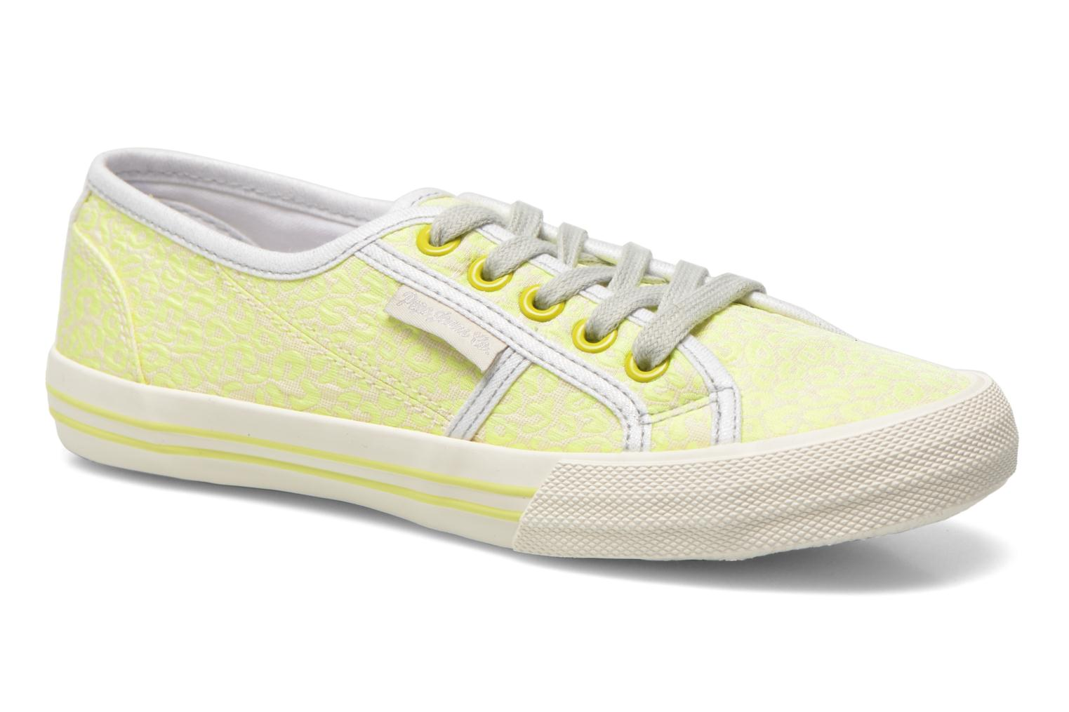 Trainers Pepe jeans Baker fluor Yellow detailed view/ Pair view