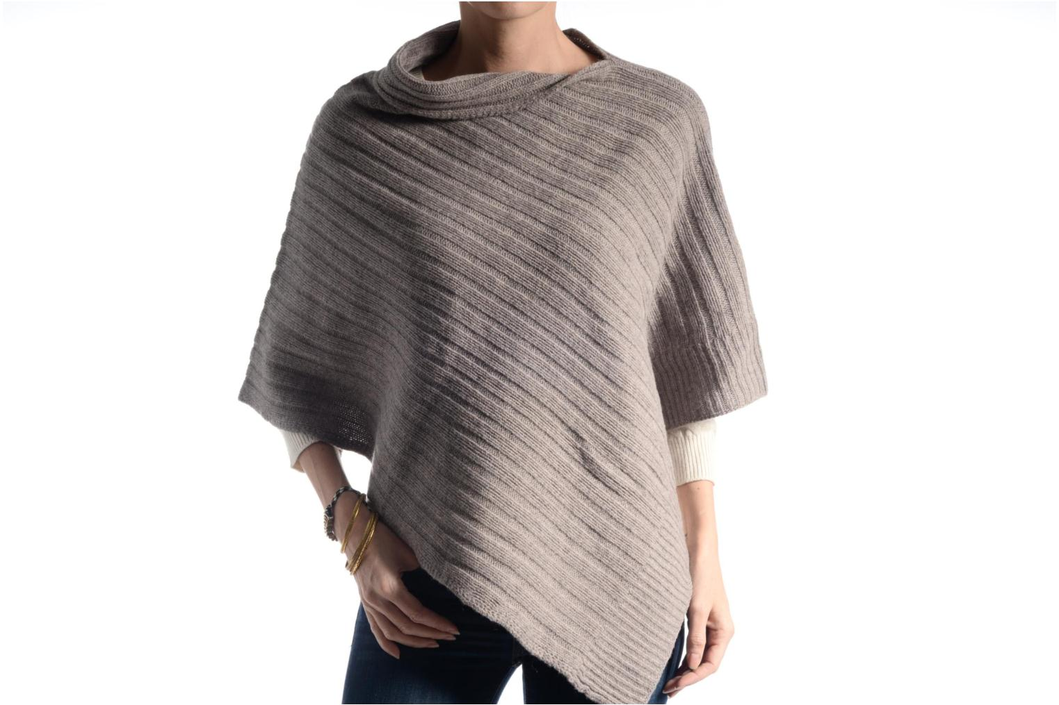 Poncho laine cachemire Taupe