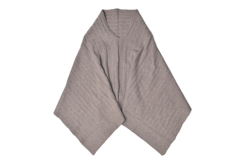 Poncho laine cachemire Taupe