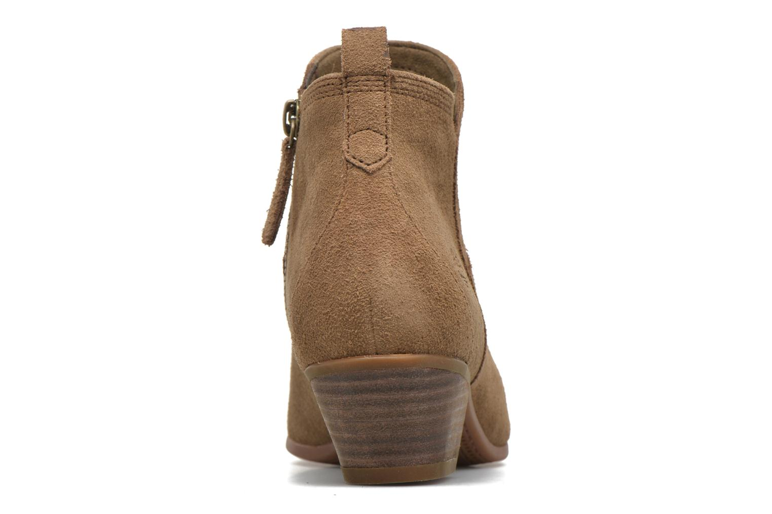 Carleton Side Zip Ankle Sepia Suede