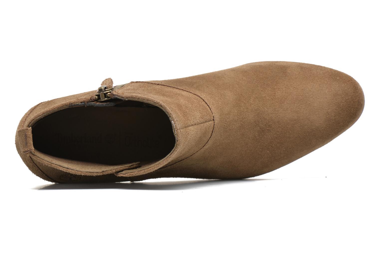 Carleton Side Zip Ankle Sepia Suede