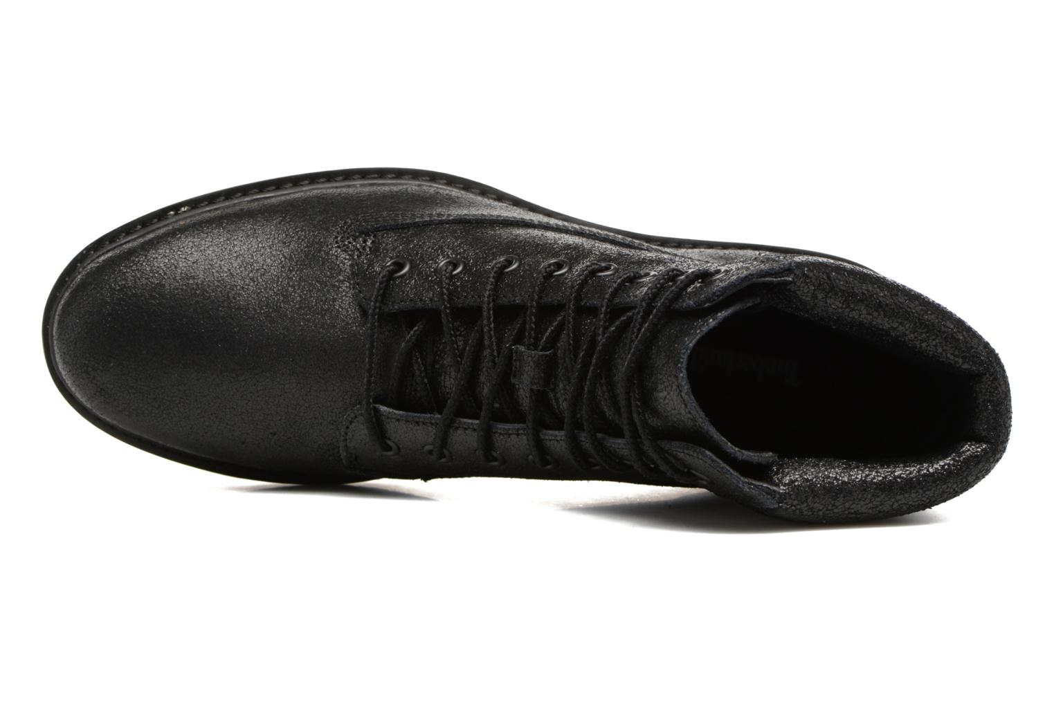 Kenniston 6in Lace Up Black Charred Suede