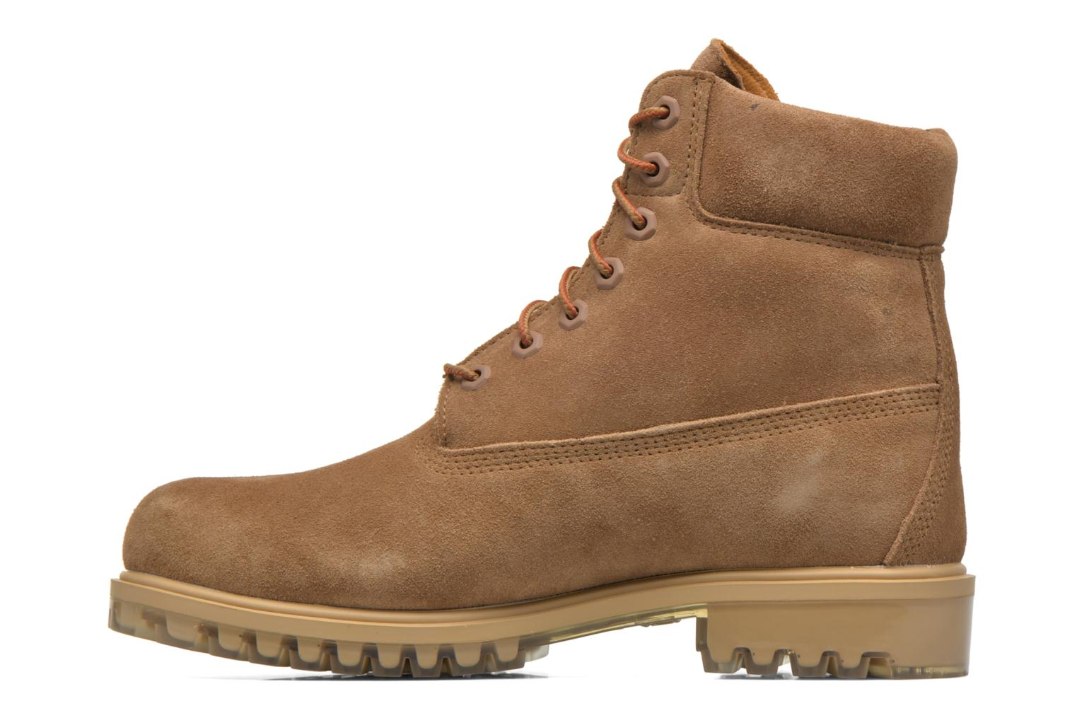 """Bottines et boots Timberland TPU 6"""" WP Suede Beige vue face"""