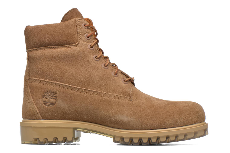 "Bottines et boots Timberland TPU 6"" WP Suede Beige vue derrière"