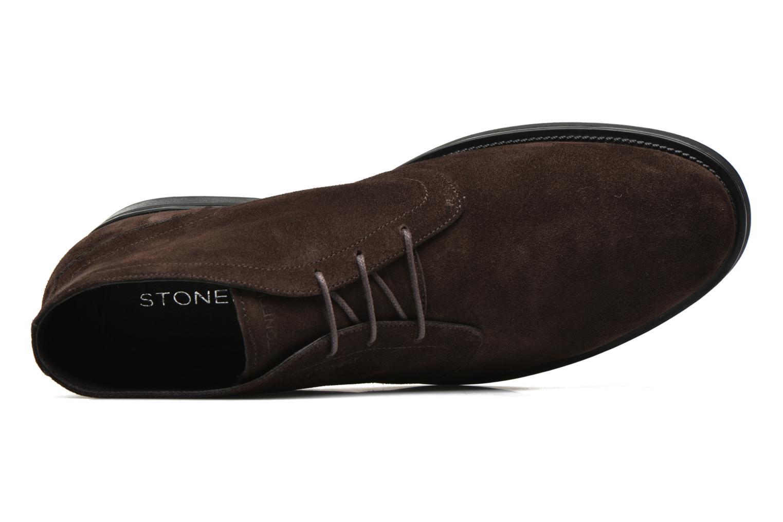 Zapatos con cordones Stonefly Class 11 Azul vista lateral izquierda