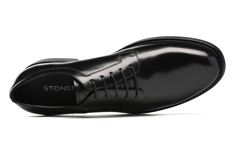 Zapatos con cordones Stonefly Class 12 Negro vista lateral izquierda