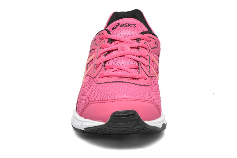 Chaussures de sport Asics Gel-Galaxy 9 GS Rose vue portées chaussures
