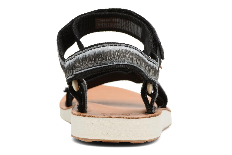 Sandales et nu-pieds Teva Original Universal Ombre Noir vue droite