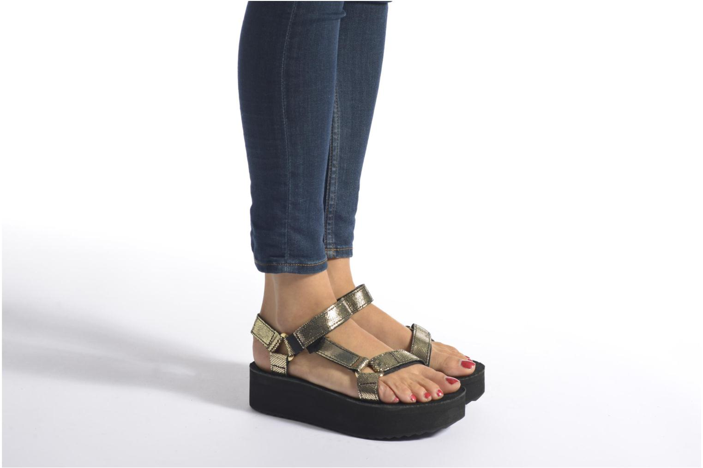 Sandales et nu-pieds Teva Flatform Universal Radiant Or et bronze vue bas / vue portée sac