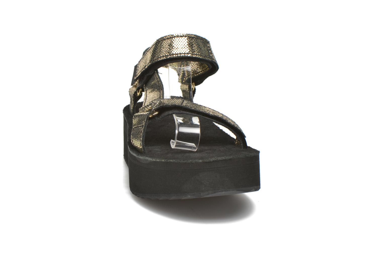 Sandales et nu-pieds Teva Flatform Universal Radiant Or et bronze vue portées chaussures