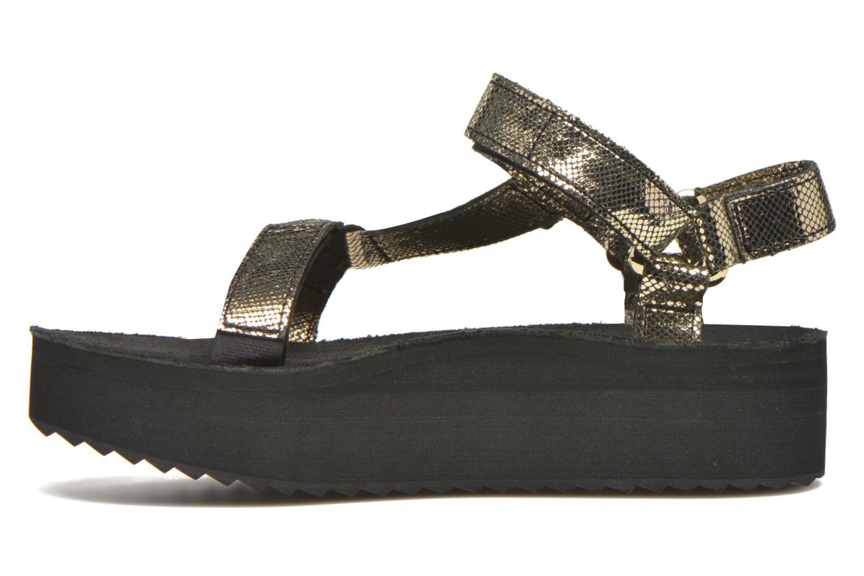 Sandales et nu-pieds Teva Flatform Universal Radiant Or et bronze vue face