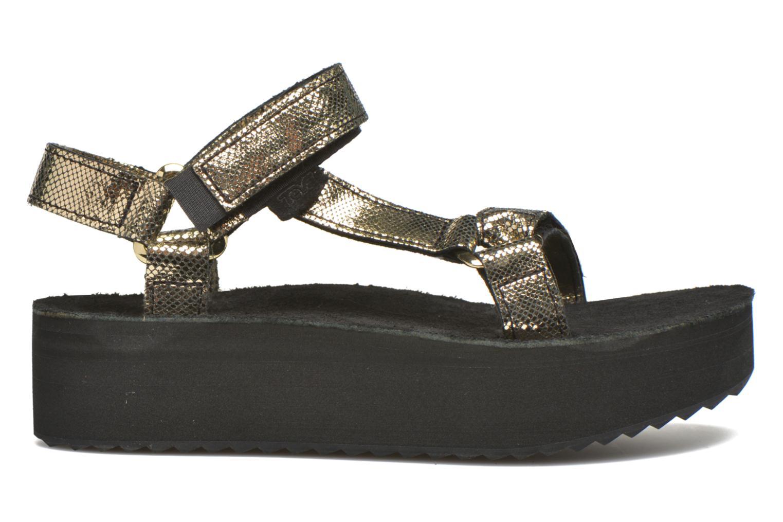 Sandales et nu-pieds Teva Flatform Universal Radiant Or et bronze vue derrière