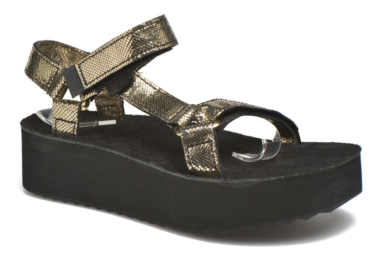 Sandales et nu-pieds Teva Flatform Universal Radiant Or et bronze vue détail/paire