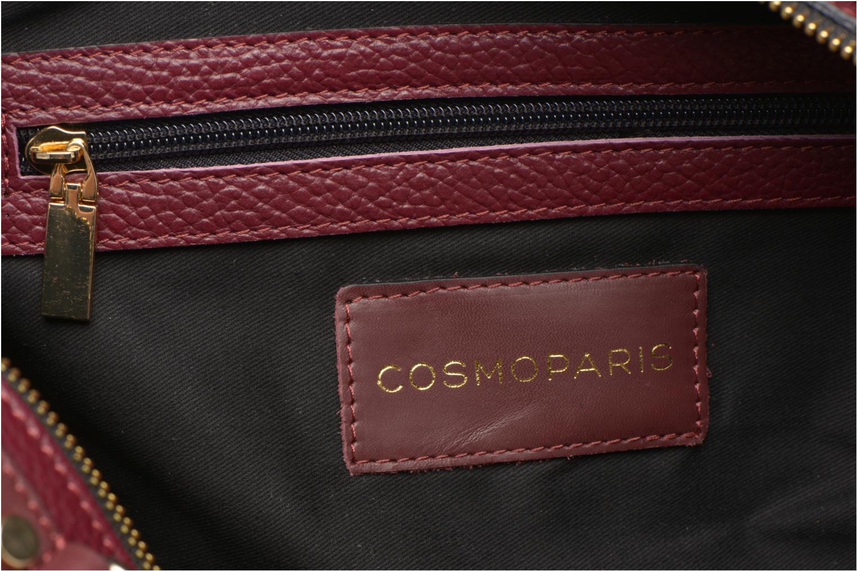 Sacs à main COSMOPARIS OMEA/GR Double porté Cuir Bordeaux vue derrière