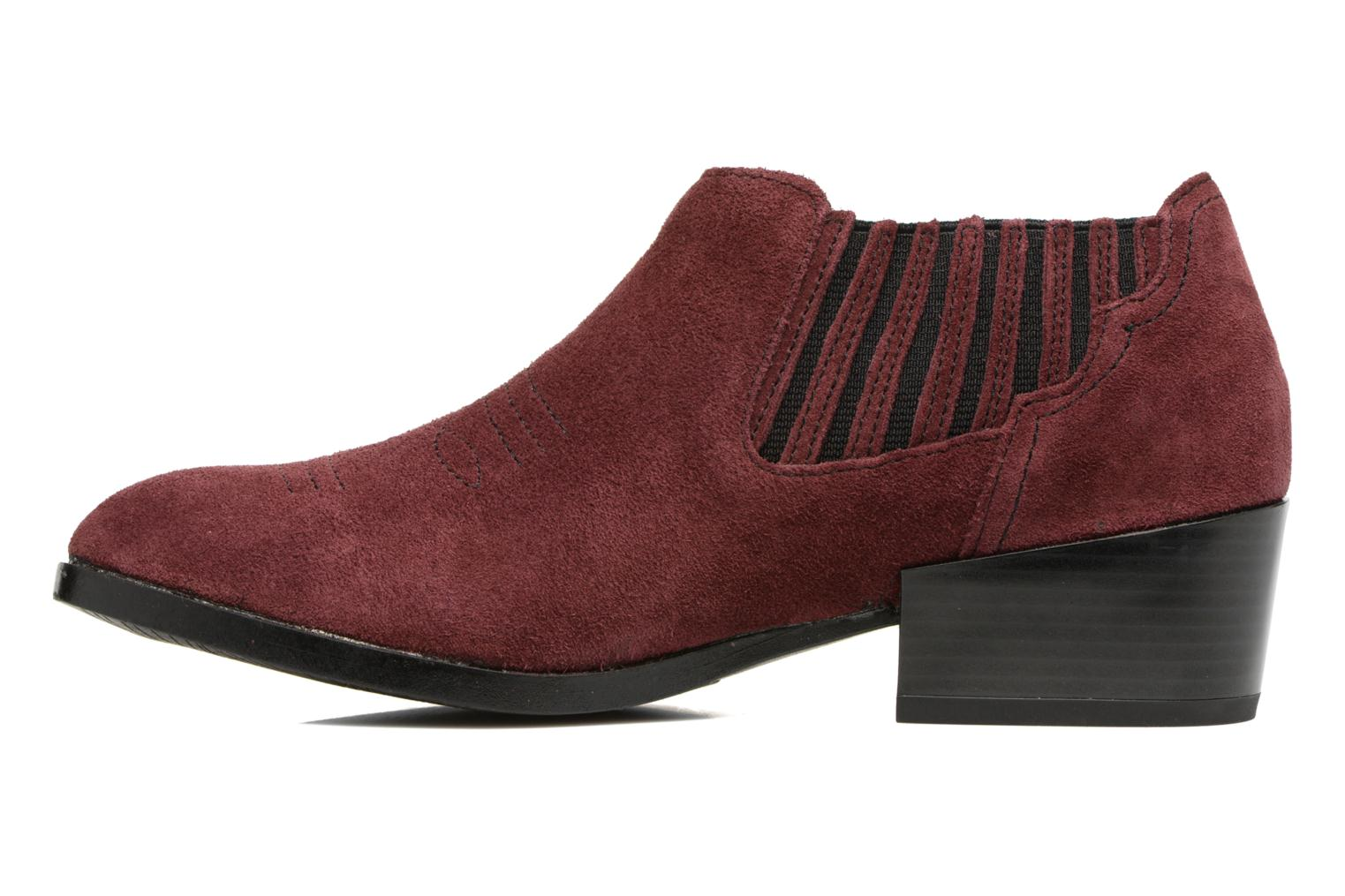 Bottines et boots Vero Moda Western Leather Low Boot Bordeaux vue face
