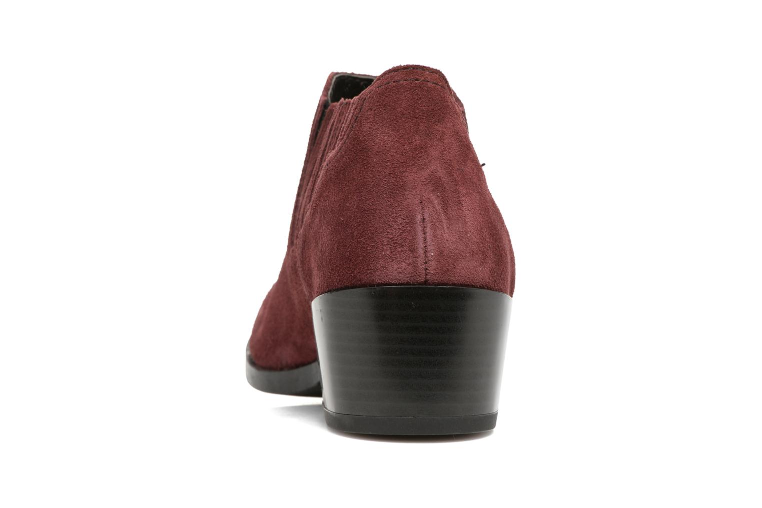 Bottines et boots Vero Moda Western Leather Low Boot Bordeaux vue droite