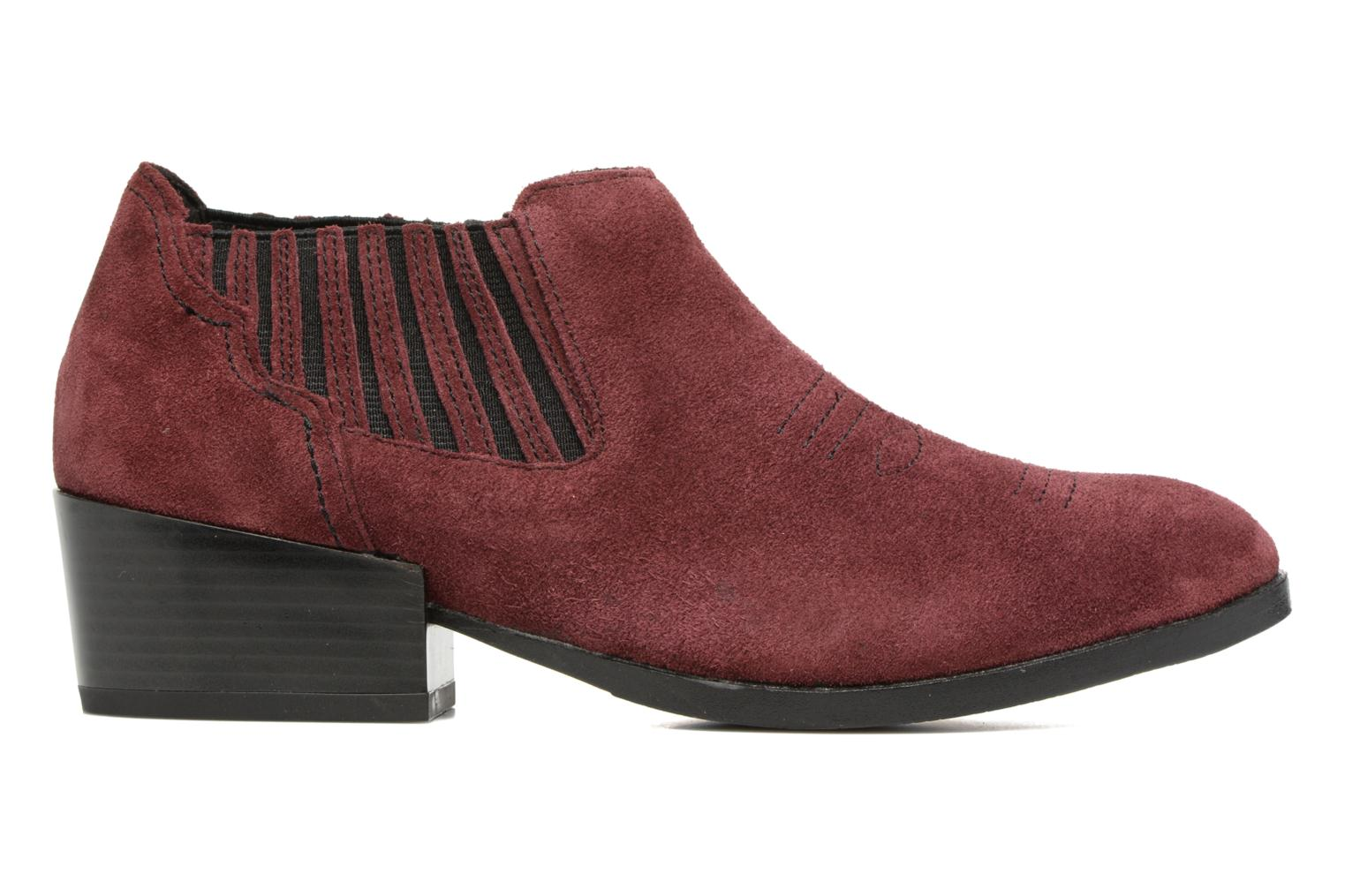 Bottines et boots Vero Moda Western Leather Low Boot Bordeaux vue derrière